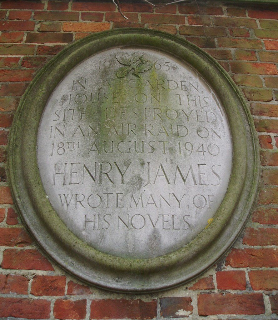 Henry James plaque in Rye, England