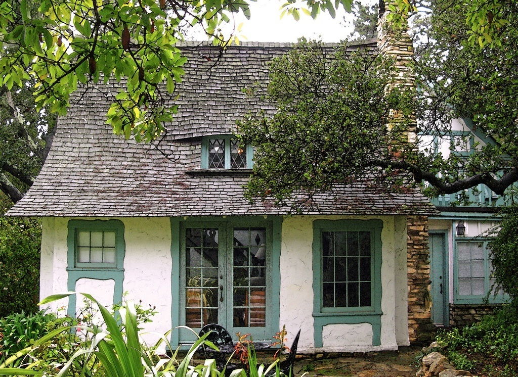 Hugh Comstock fairy-tale cottage by the sea in Carmel