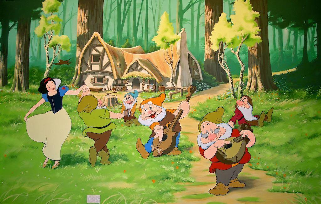 seven dwarves' tiny cottage