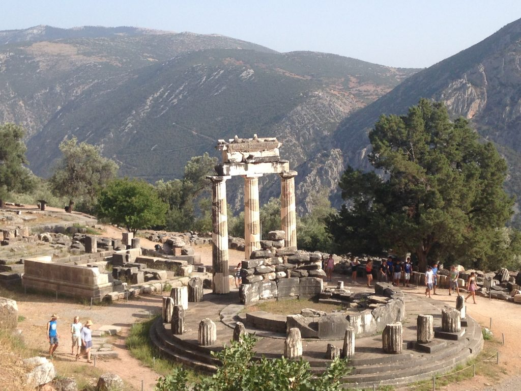 sanstuary of Athena at Delphi